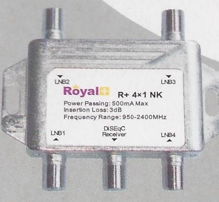 Royal Plus 4X1 DiSEqC Switch
