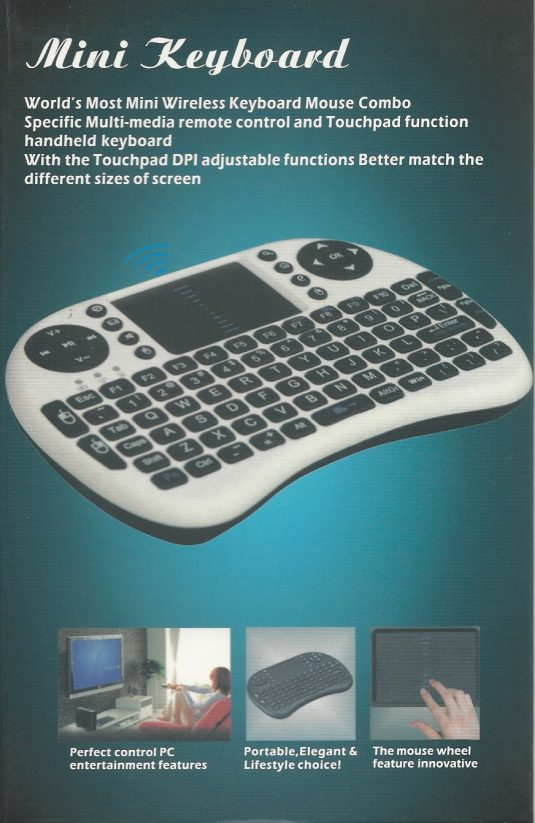 wireless keyboard for all IPTV set top boxes.